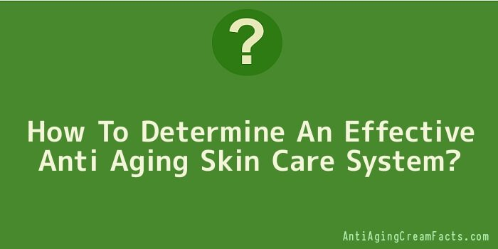 How To Determine An Effective Anti Aging Skin Care System